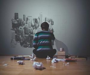 art, city, and wall image