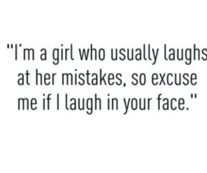 girl, mistakes, and laugh image