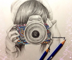 camera, drawing, and art image