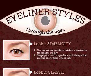 makeup, tutorial, and eyeliner image