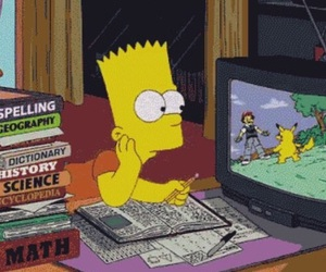 simpsons, pokemon, and bart image
