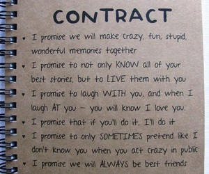 best friend and contract image