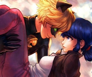 miraculous ladybug, Chat Noir, and marinette image