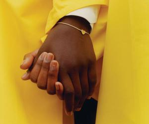 hand, yellow, and indie image