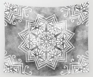 gray, mandala, and tapestry image