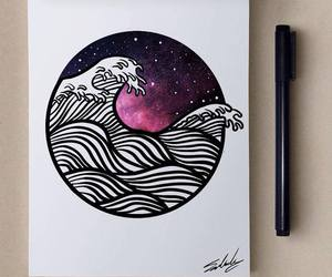 galaxy, water color, and paint image