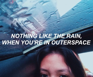 blue, Lyrics, and outerspace image