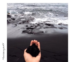 black, sea, and blacksand image