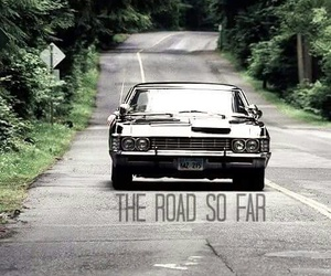 supernatural, dean winchester, and the road so far image
