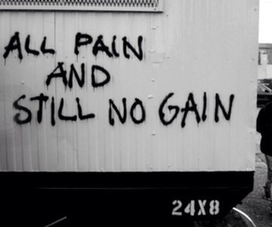 pain, quotes, and gain image