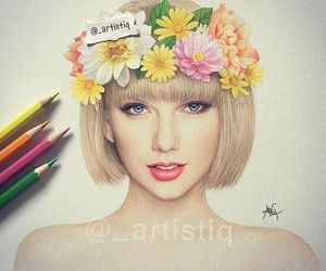 Taylor Swift, art, and draw image