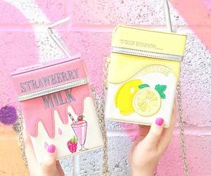 pink, bag, and kawaii image