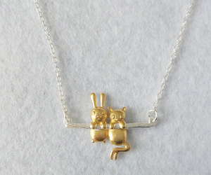 animals, bunny, and bunny necklace image
