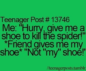 teenager post, spider, and friends image