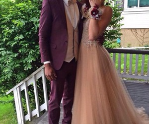 beautiful, couple, and Prom image