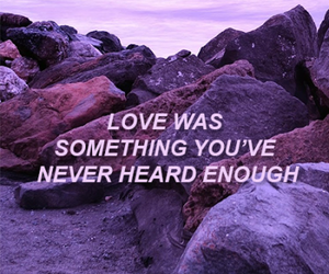 four, Lyrics, and purple image