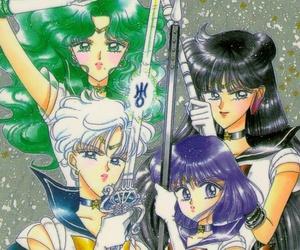 group portrait, manga, and sailor moon image