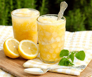 drink, lemon, and juice image