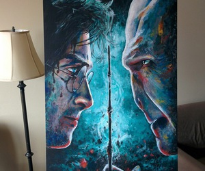 art, harry potter, and voldemort image