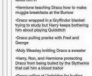 draco malfoy, friendship, and harry potter image