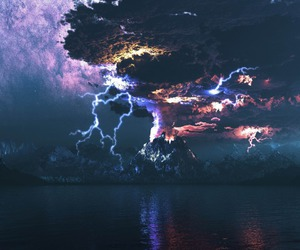 storm, sky, and lightning image