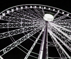 city, ferris wheel, and photography image