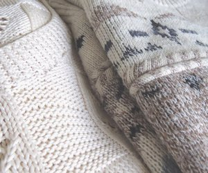 knitted, knitwear, and sweater image