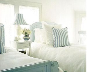 bedroom, home, and blue image