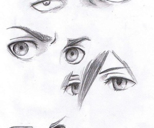 eyes, anime, and draw image