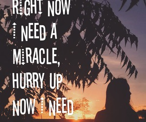 i need you, miracle, and don't let me down image