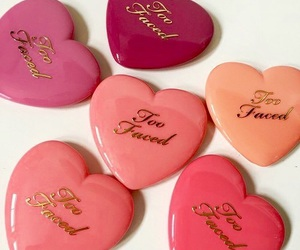makeup, too faced, and heart image