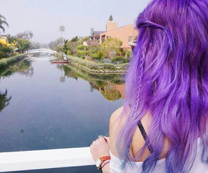 purple, hair, and style image