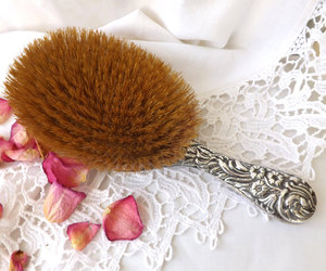 etsy, antique silver, and antique hairbrush image