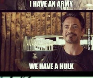 loki, funny, and iron man image