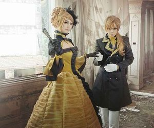 cosplay, vocaloid, and kagamine image