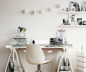decoration, white, and office image