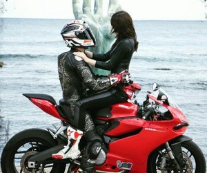 motorcycles, love, and red image