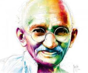 art, colour, and ghandi image