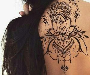 tattoo, black, and henna image