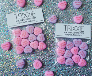 candy, candy hearts, and conversation hearts image