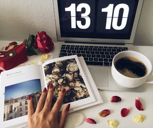 blogger, book, and flowers image