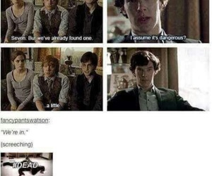 harry potter, sherlock, and fandom image