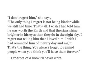 quotes, regret, and love image