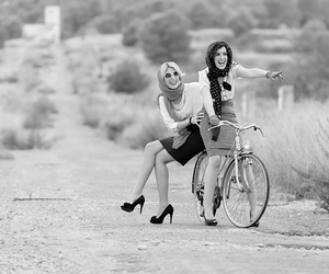 bike, fashion, and girls image
