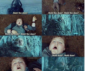 hodor, game of thrones, and hold the door image