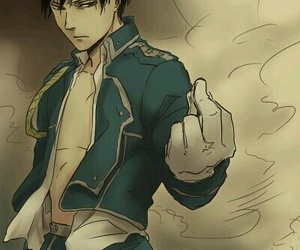 anime, fullmetal alchemist, and roy mustang image
