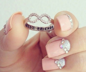 nails, best friends, and ring image