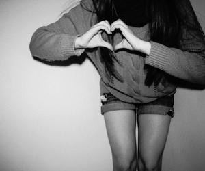 girl, hands, and heart image