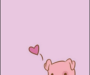 wallpaper, pato, and pig image