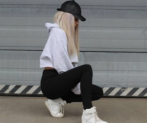 girl, style, and hair image